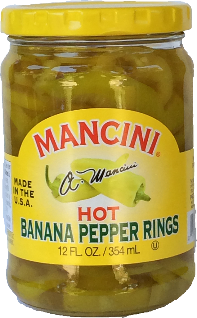 12/12oz Hot Banana Pepper Rings