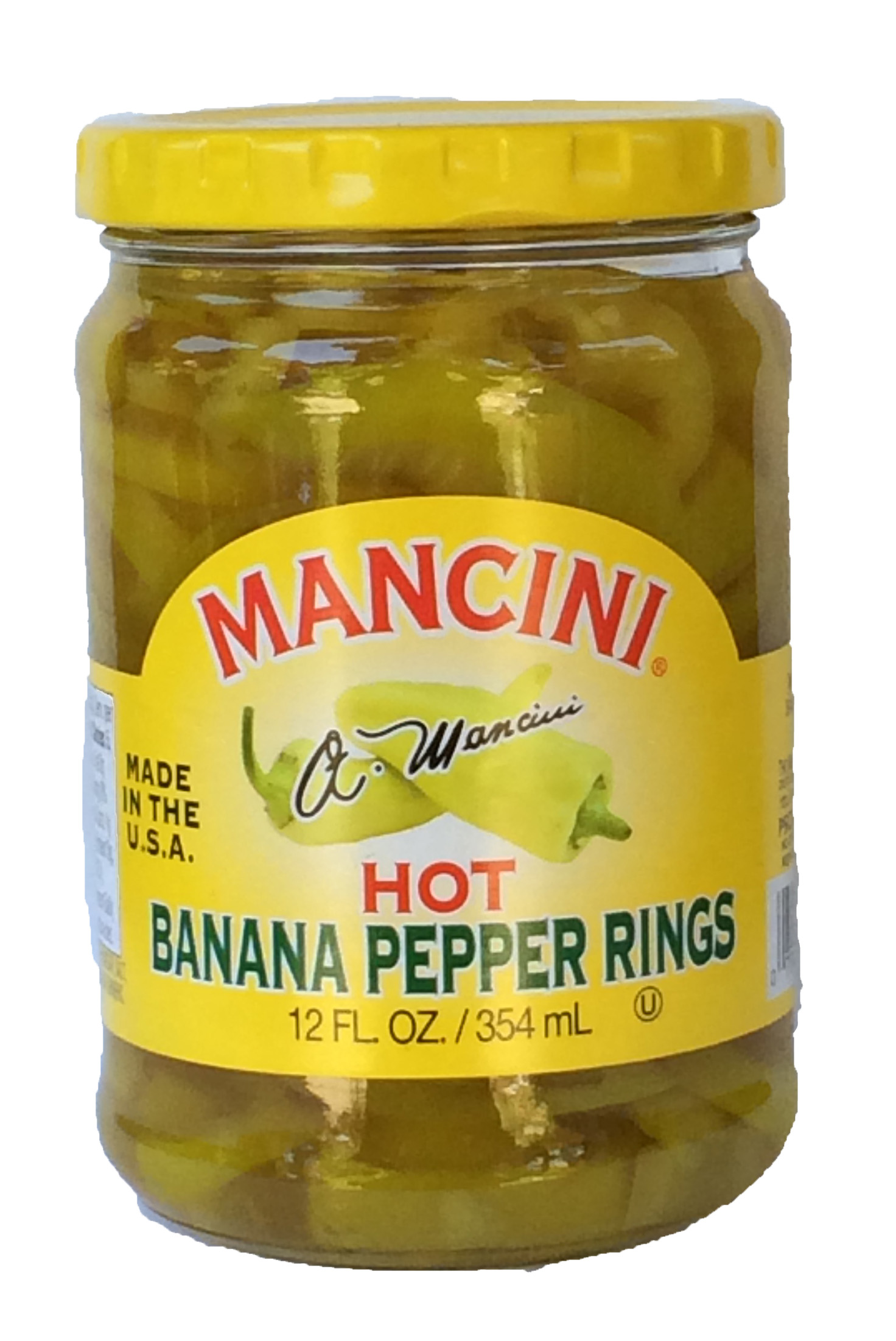 6/12oz Hot Banana Pepper Rings